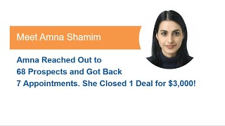 Mojo Global Reviews | Testimonial from Amna on how she closed 1 deal for $3,000