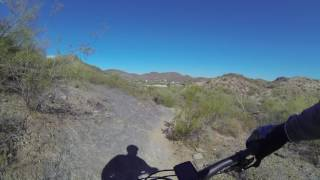 Long downhill blast heading west to Cave Creek Rd...gotta lay off those brakes!