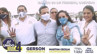 Frida Cabrera candidata para Asambleísta por la provincia del Guayas.
