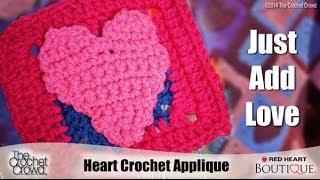 Crochet Heart Appliques Tutorial