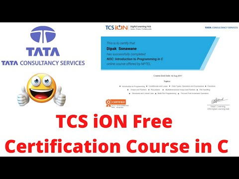 TCS iON Free Certification Course in C programming language ...
