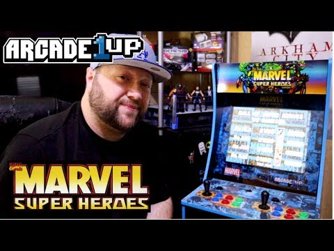 Marvel Super Heroes 1Up Arcade Cabinet Unboxing and assembly