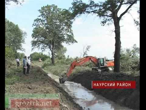 Очистка оросительных каналов в Наурском районе Чечни - видео-репортаж