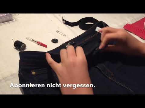 Einen Gummizug in eine Jeanshose nähen - Anfänger