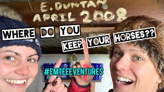 WHERE DO YOU KEEP YOUR HORSES?? #EmTeeEventures ~ LifeOTLR Vlog