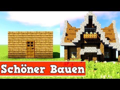 Wie Baut Man Ein Schönes Haus In Minecraft Minecraft Haus Schöner - Minecraft einfaches mittelalter haus bauen