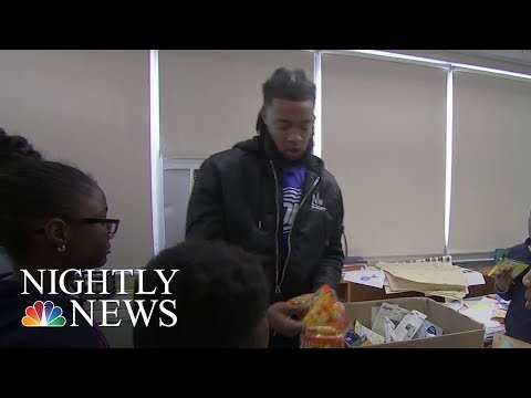 NFL Player-Turned-Teacher Aaron Maybin Helps Students During Baltimore Winter | NBC Nightly News