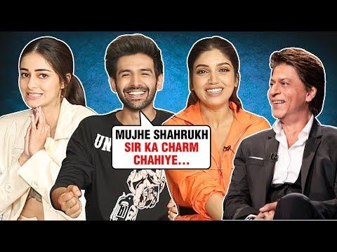 Kartik, Ananya, Bhumi Rapid Fire On SRK, Salman | Guess The Movie QUIZ | Pati Patni Aur Woh