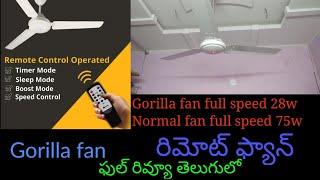 Bajaj Ultima PT 01 Fan unboxing & review in Telugu - Thủ
