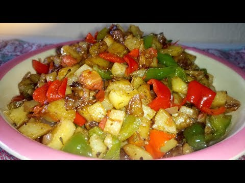 Stir Fry Potatoes Recipe: How to Make Stir Fry Potatoes and Vegetables | Breakfast Idea