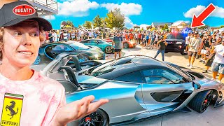 Taking 4 Hypercars To a Car Show! (Cops Were Pissed)