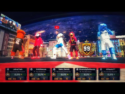 This is what happens when 4 mascots play NBA 2K19 at the same time. 99 overall mascots NBA 2K19