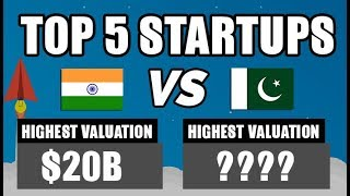 TOP 5 INDIAN STARTUPS VS PAKISTANI STARTUPS | COMPARISON | INDIA Vs PAKISTAN