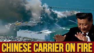 China's aircraft carrier catches fire, many Casualties. Safety is not being appreciated in China