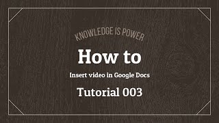 How to insert video in Google Docs