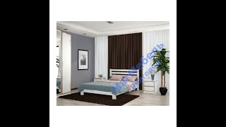 Кровать-массив дерева Вероника 1.6 м (Белый) Браво Мебель