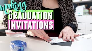 MAKING YOUR OWN GRADUATION INVITATIONS, Making Graduation Invitations For My Etsy Shop
