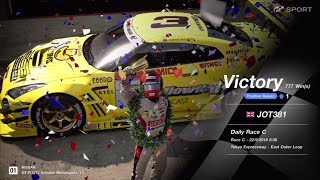 JOT381 GRAN TURISMO SPORT 220918 TOKYO EXPRESS NISSAN GT-R 2nd to 1st ONLINE RACE 10 LAPS 777th WIN