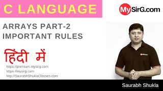 Download Youtube: Lecture 11 Arrays in C Part 2 Hindi
