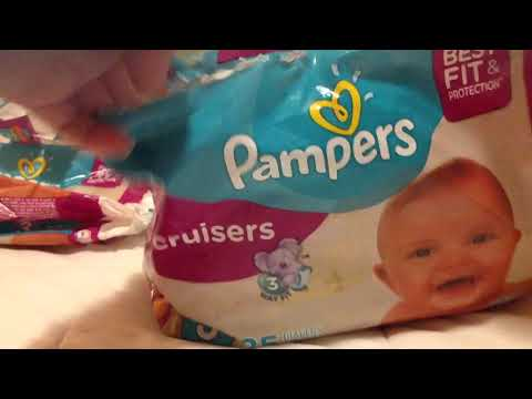 New Pampers Cruisers Size 3 25 Count Jumbo Pack Baby Diapers Video Review Reveal