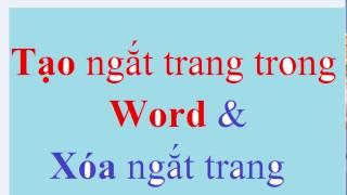 Cách Tạo Ngắt Trang Trong Word 2016 - Next Page   Học Word 2010 – 2013 – 2016