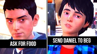 Send Daniel To Beg vs Ask For Food - Life is Strange 2 Choices