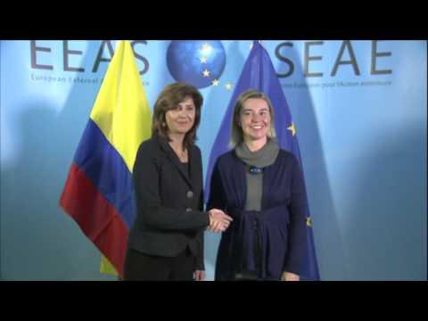 Mogherini receives María Ángela HOLGUÍN, Colombian Foreign Minister
