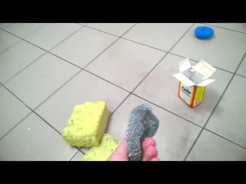 Как отмыть плитку (керамогранит) от затирки