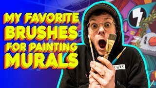 My Favorite Paint Brushes for Painting Murals - Ten Hundred