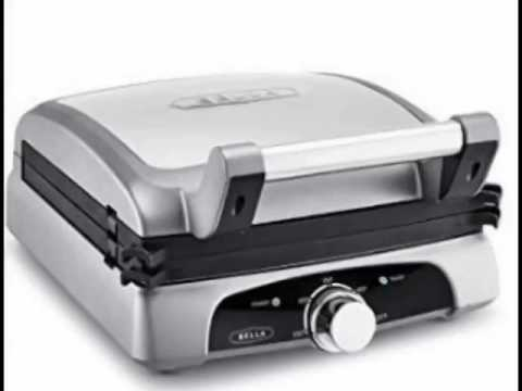 , Bella 8-In-1 Electric Contact NonStick Grill Griddles Removeble Plates with Adjustable Heat