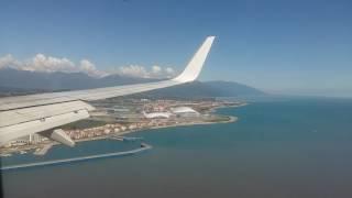 Посадка в Сочи(аэропорт Адлер). Трясло! Boeing 737-800