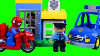 Lego duplo Spider-man Bike Workshop And Duplo My First Police Set