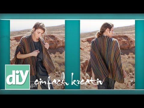 Einfache Schal-Weste   DIY einfach kreativ