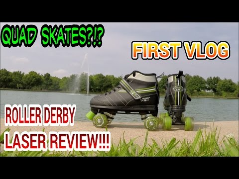 #120 QUAD SKATES?!? FIRST VLOG/ROLLER DERBY LASER REVIEW!!! (VLOG)(NARRATED)