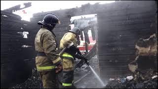 В пожаре под Уфой пострадала семья