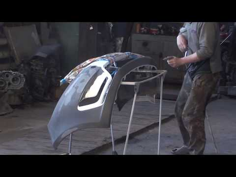 Kia Rio  Ремонт бампера и готовый авто