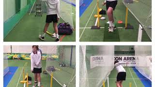 Fast bowling technique work