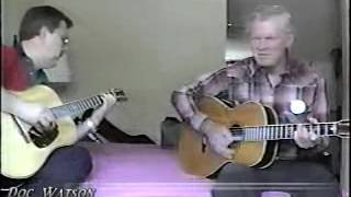 Doc Watson Playing An Arnold Jimmie Rodgers Weymann Guitar