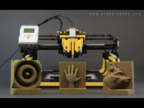Lego 3D Milling Machine Is Too Bloody Awesome For Words