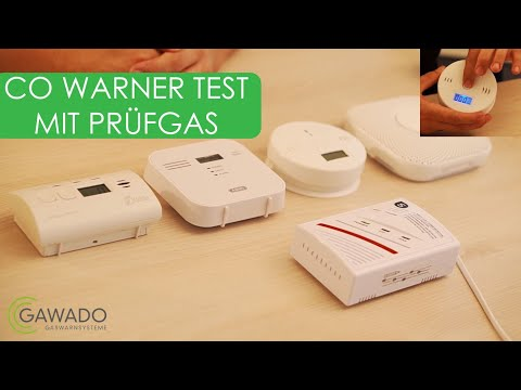CO Warner mit Prüfgas getestet | Ein CO Melder ohne Funktion obwohl der Testknopf funktioniert