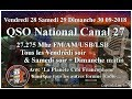 Samedi 29 Septembre 2018 21H00 QSO National du canal 27