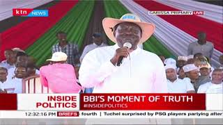 Raila Odinga addresses the Garissa BBI Rally
