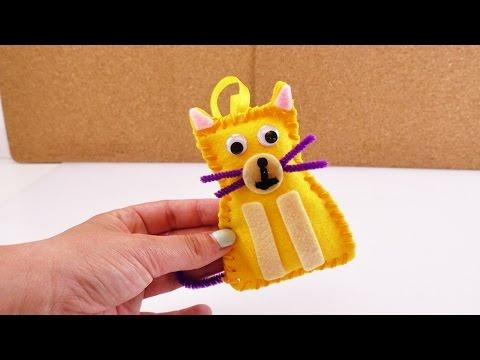 Nähset für Kinder Katze | Super niedliche Mini Katze selber machen | einfach & schnell | Anfänger