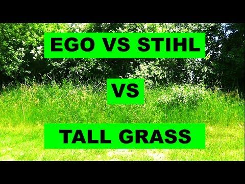 Ego Trimmer vs Stihl Trimmer vs Tall Grass