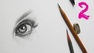 Как рисовать женский глаз простым карандашом урок - Видео онлайн