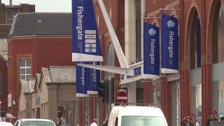 preview picture of video 'Fishergate, Preston regenerated'