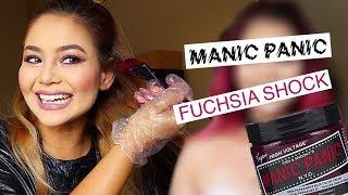 Manic Panic Fuchsia Shock on Blonde Hair