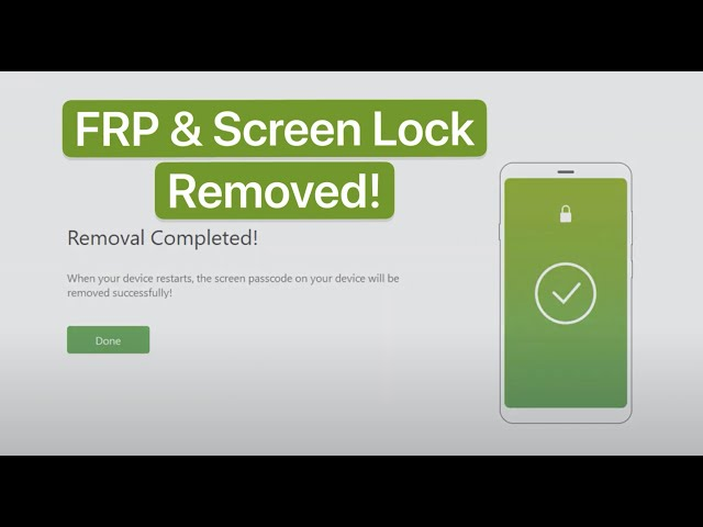 iMyFone LockWiper (Android) - Bypass FRP & Remove Screen Lock