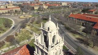 Texas Tech beautiful aerial view