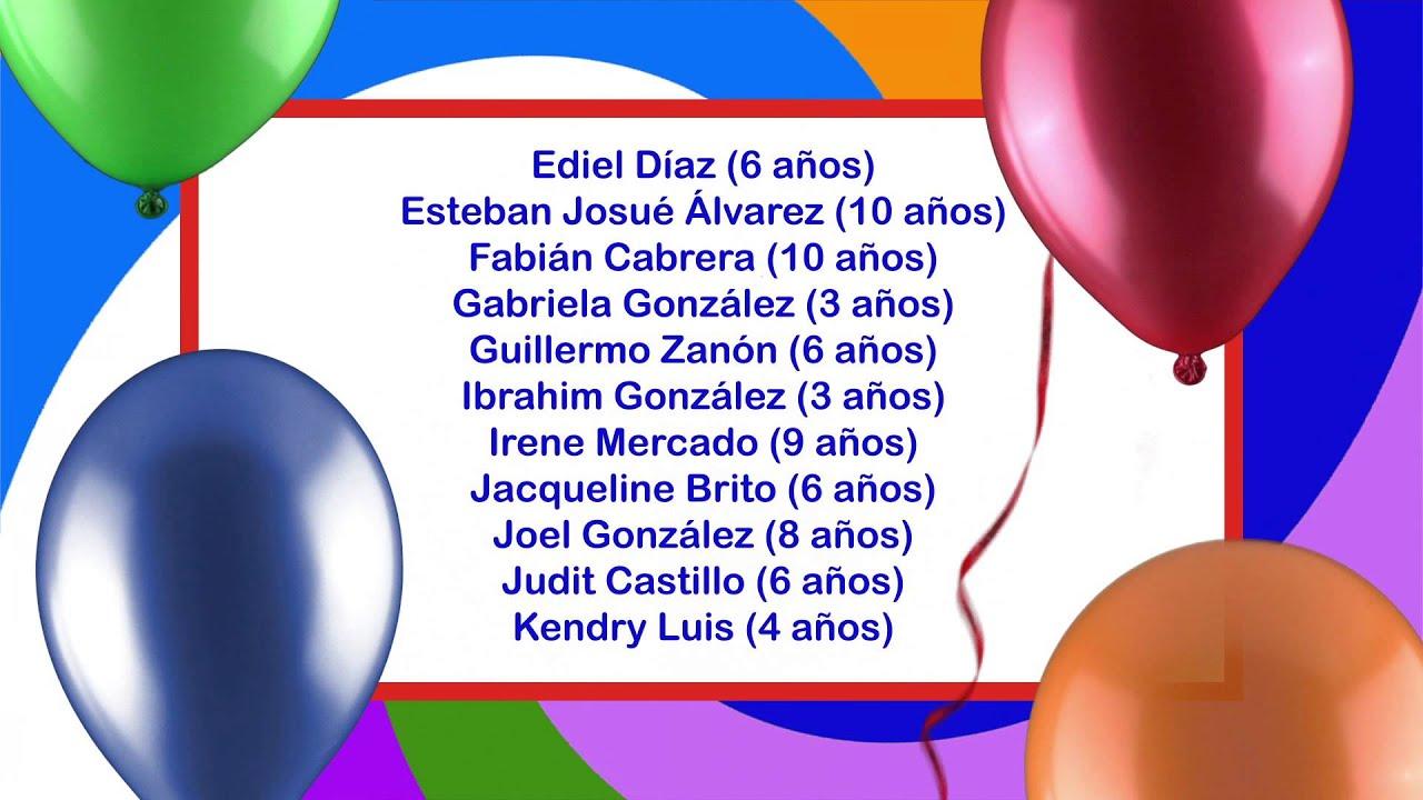 Archicumpleaños del 16 al 22 de diciembre de 2012